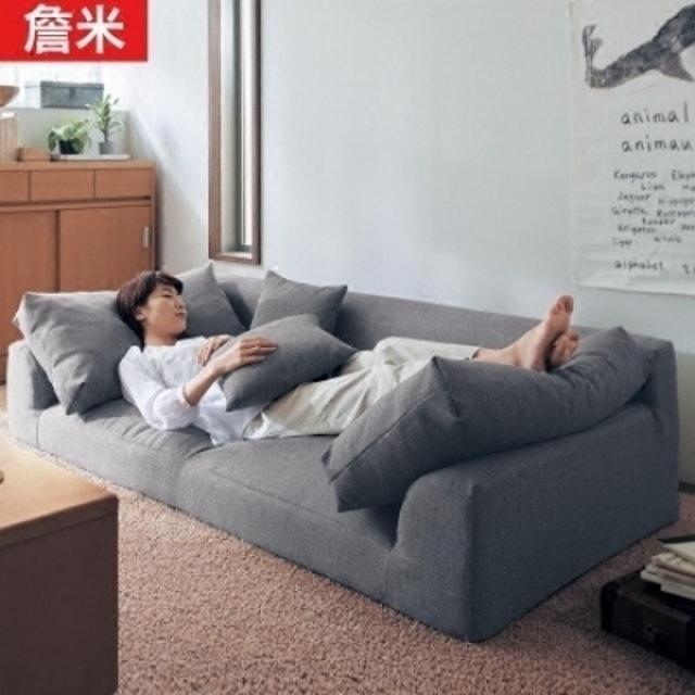 日韓式三人位棉麻拆洗沙發 1