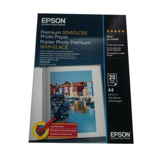 EPSON  頂級柔光相片紙 1