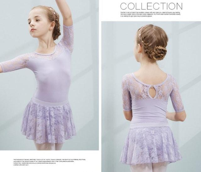 蕾絲短袖兒童芭蕾舞衣 1