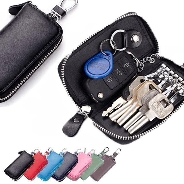 2WY 牛皮強韌可掛式男女汽車鑰匙包 1
