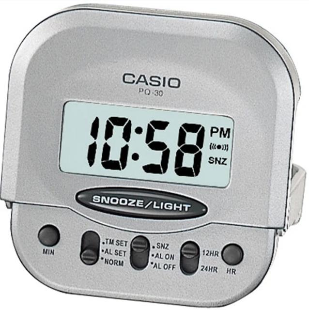 CASIO卡西歐 輕巧型摺疊電子鬧鐘 1