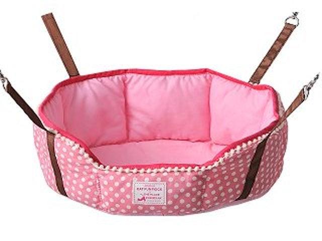 日本Bonbi  貓吊床 圓盆粉色 1