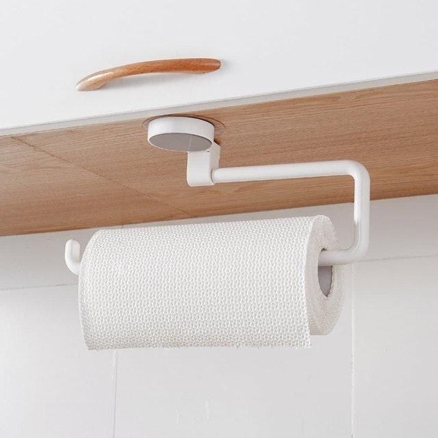 免打孔廚房紙巾旋轉掛架 1