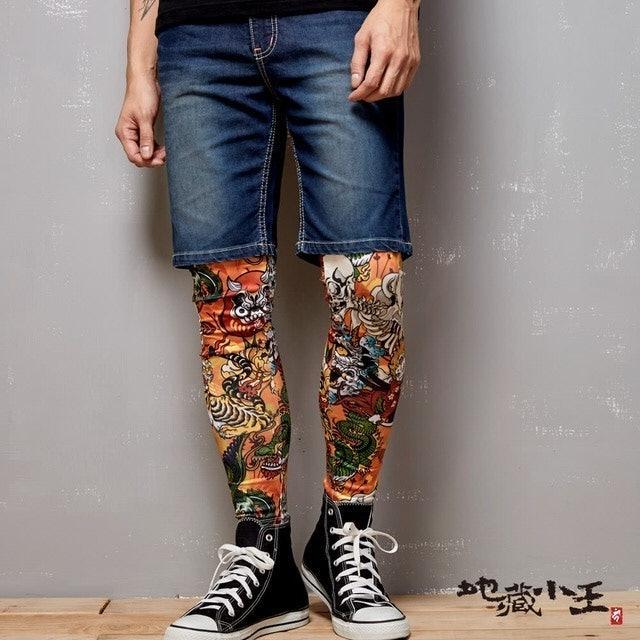 BLUE WAY 浮世繪熱昇華貼腿內搭褲 1