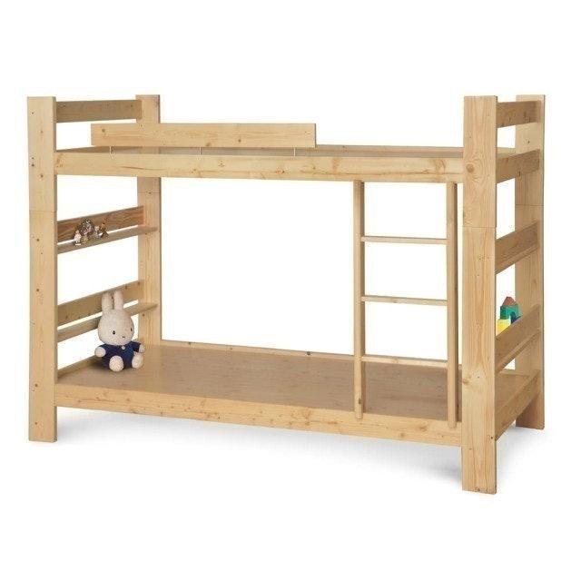 松木原木單人3.5尺雙層床 1