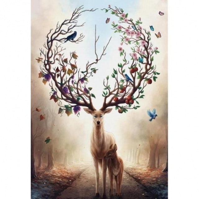 林中之鹿拼圖 1