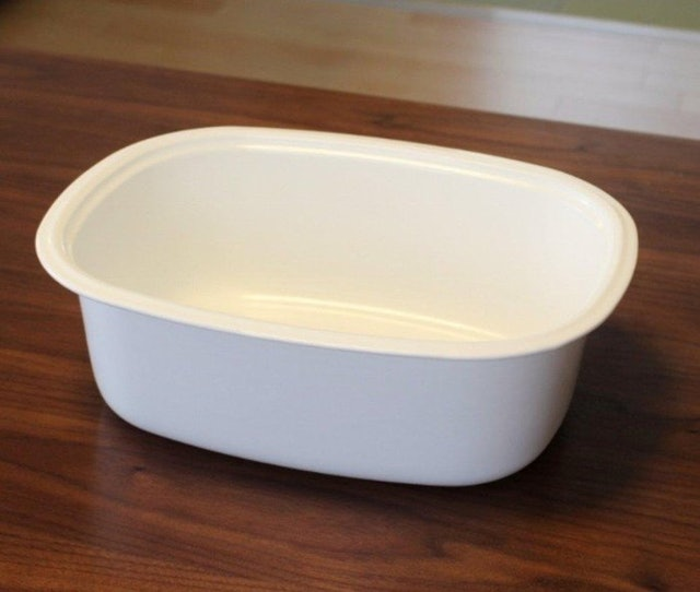 野田琺瑯 橢圓洗菜盆 1