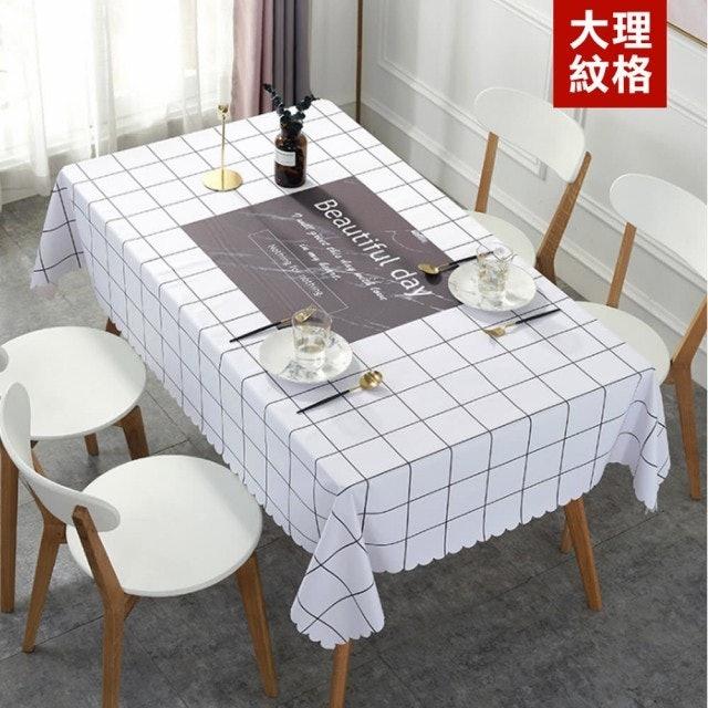 QHL 酷奇 北歐風格防水防髒桌巾布 1