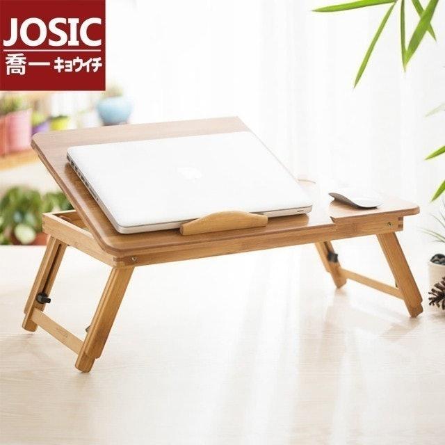 JOSIC  四段可調節高低原木折疊桌 1