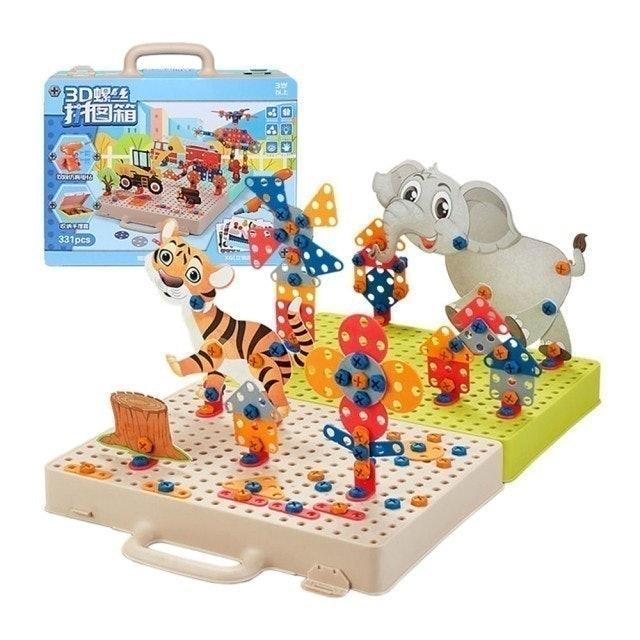888ezgo  3D立體螺絲積木拼圖箱 1