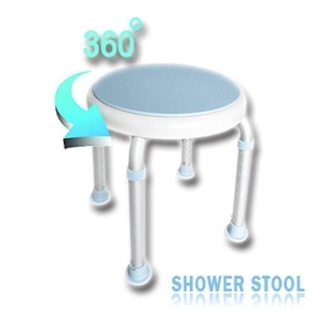 仲群維企業 輕量化鋁質可旋式360度防滑洗澡椅 1