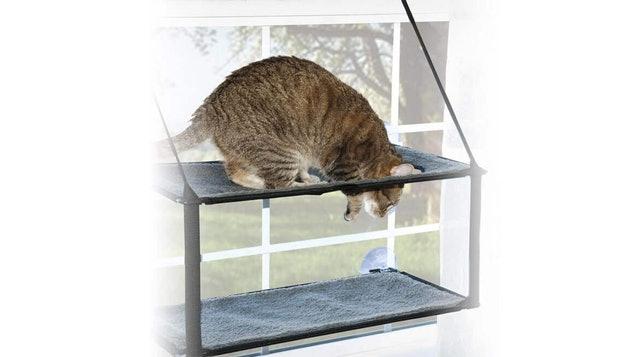 美國K&H  吸盤式雙層貓吊床 1