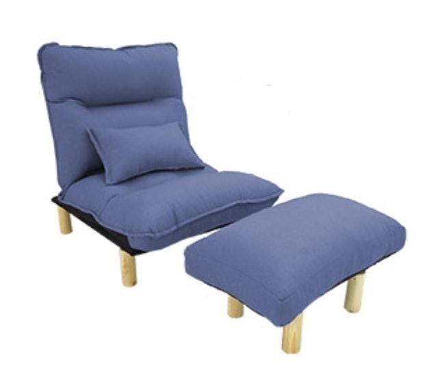 台客嚴選 簡約風杜克多功能單人沙發床+腳凳椅  1