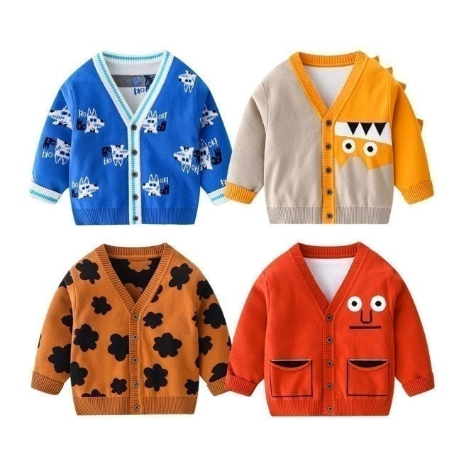 Baby 童衣 V字領兒童毛衣 中小童休閒外套 1