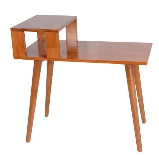 E-home Stevany 史蒂芙尼實木造型邊桌 1