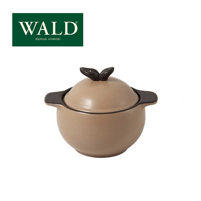 WALD  蘋果造型鍋蓋雙耳小陶鍋 1