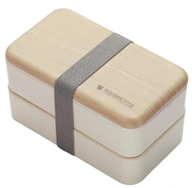 APPLT TREE蘋果樹 吉來家 SUMI 日式質感仿木紋雙層便當盒 1