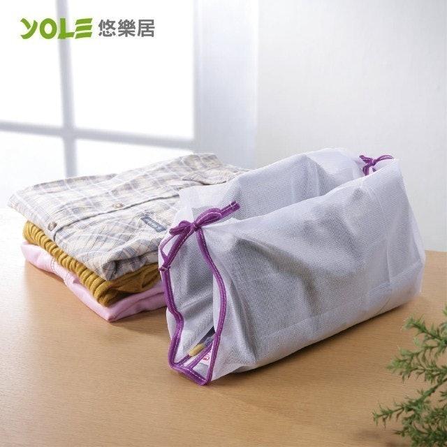 YOLE悠樂居 綁帶襯衫洗衣袋 1