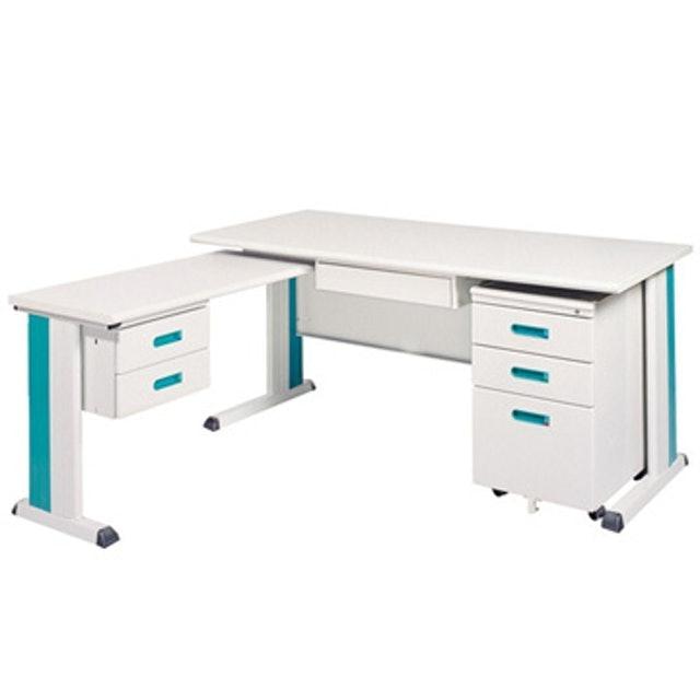 時尚屋 L型辦公桌櫃組 1
