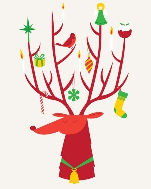 Dottinghill Reindeer 刺青紋身貼紙 1