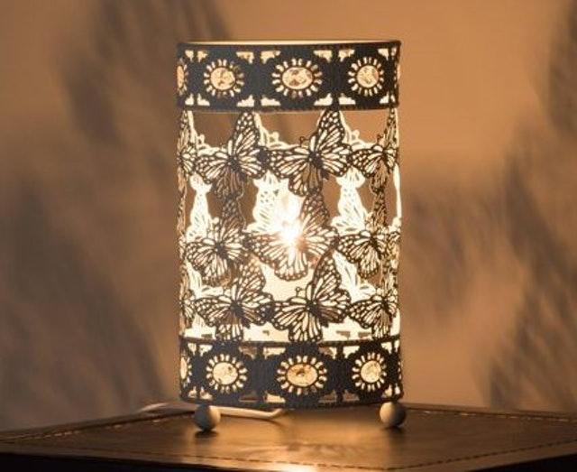 典雅樸素米白色蝴蝶桌燈  1
