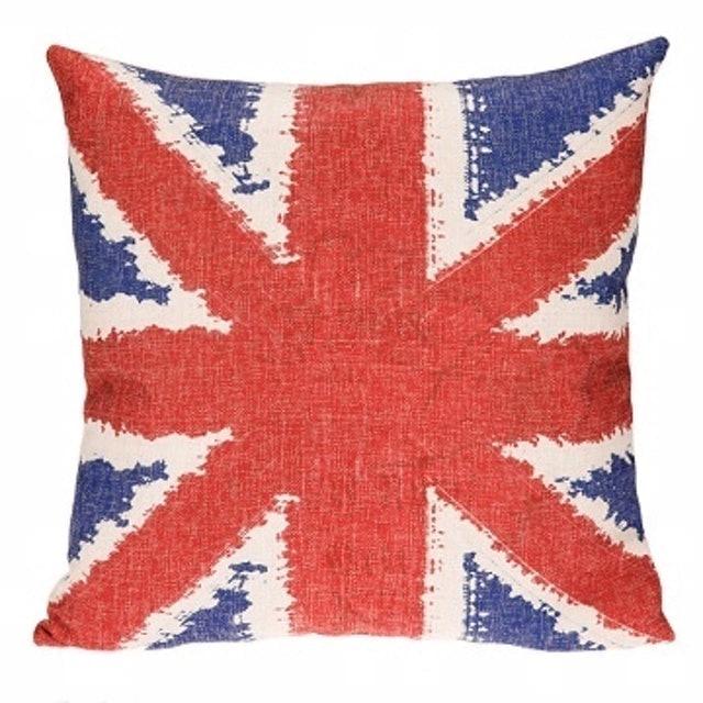 DECO LIFE 英國慶典棉麻抱枕套 1