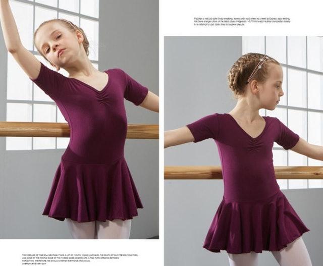 短袖兒童芭蕾舞衣 1
