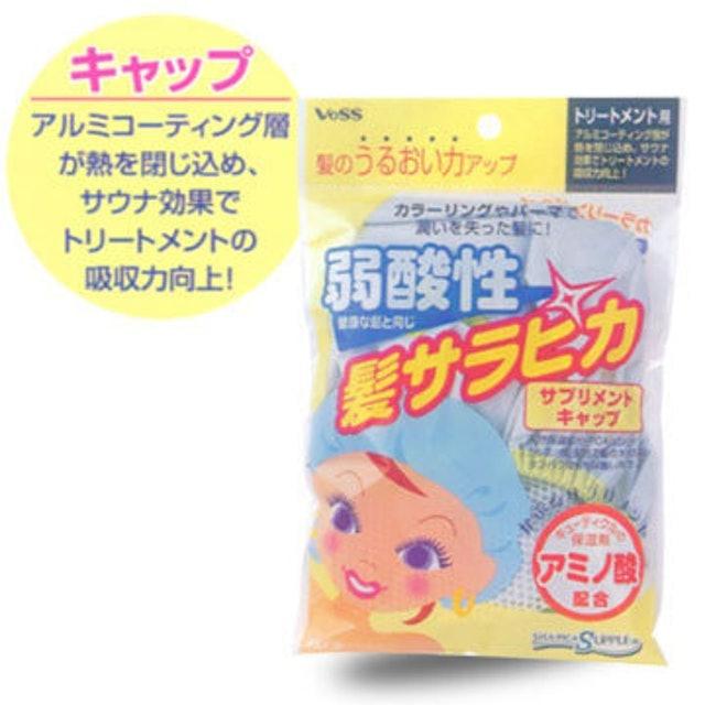 日本 VESS  弱酸性保濕護髮浴帽 1