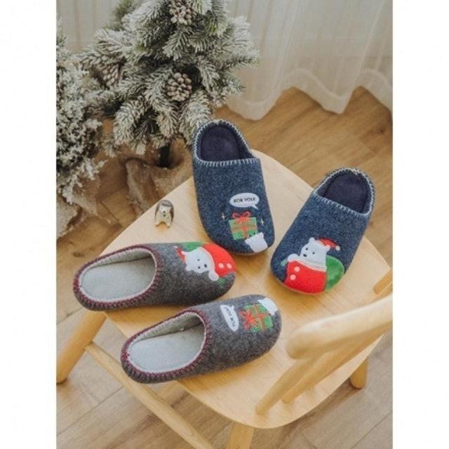 日式木地板無聲棉拖鞋 1