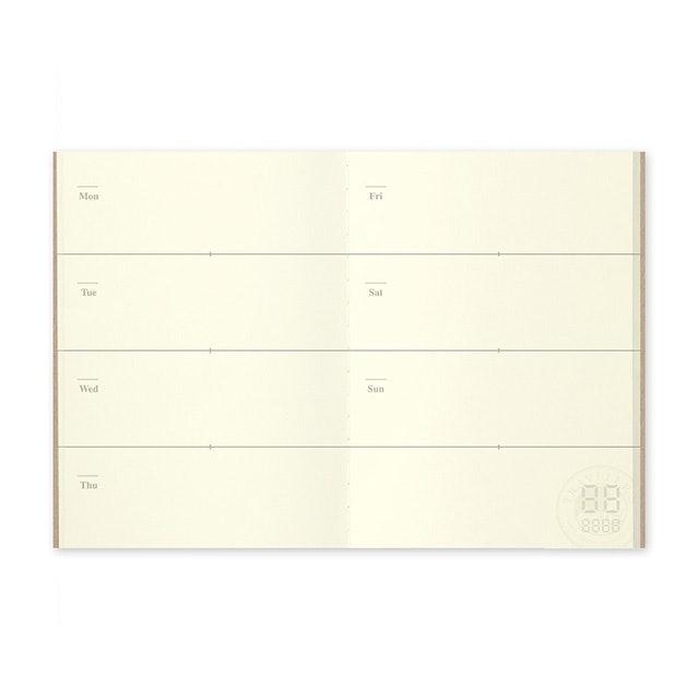 Midori TRAVELER'S notebook 護照尺寸內頁 週間手帳 1
