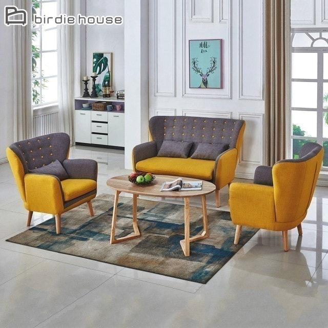 柏蒂家居  雙色沙發休閒椅組合 1