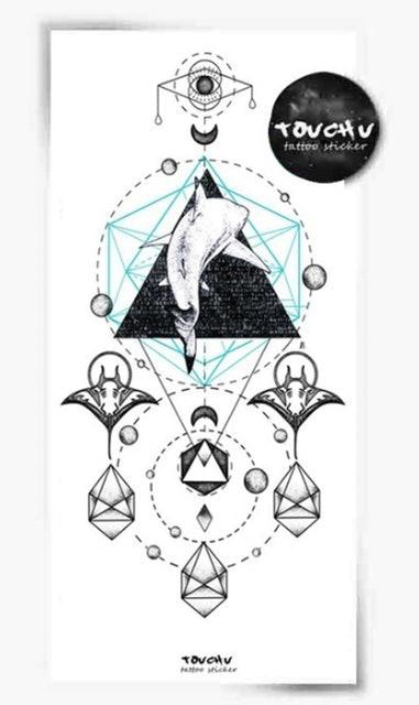 TOUCH U 防水仿真花臂海洋系列鯊魚紋身貼紙 1
