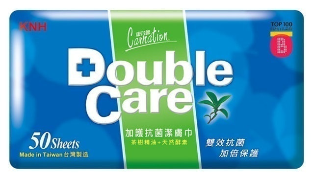 Carnation康乃馨 Double Care加護抗菌濕巾 1