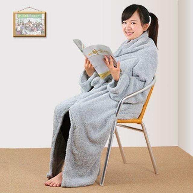 源之氣 竹炭超細纖維居家兩用袖毯 1