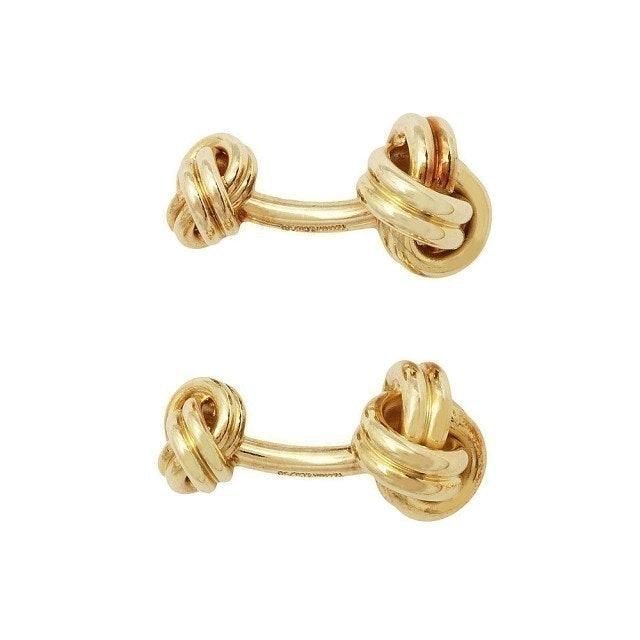 Tiffany&Co.蒂芙尼 KNOT系列18K金繩結造型袖扣 1