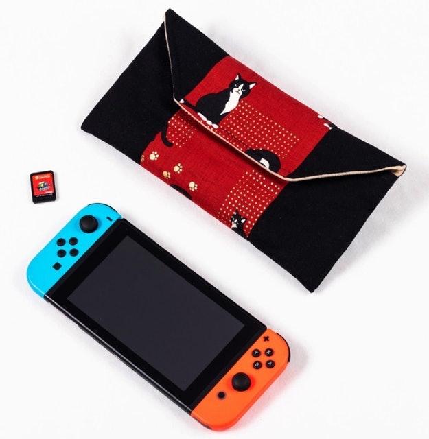 任天堂 switch 和風布藝保護包 1