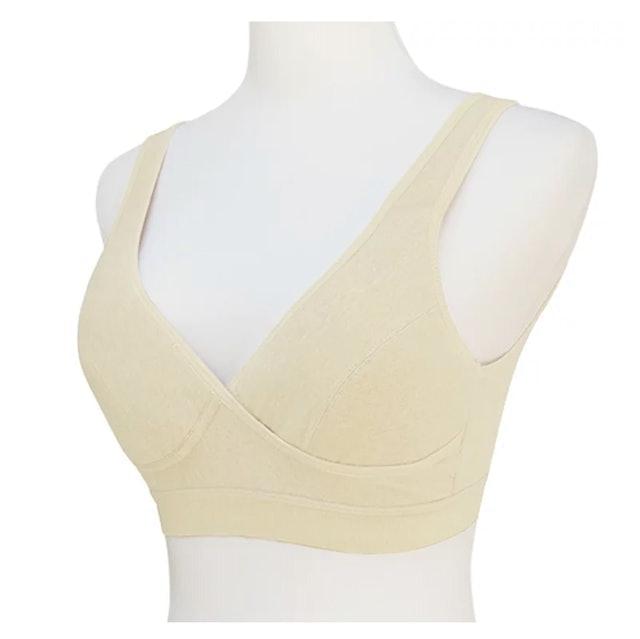 和諧生活 仕女無鋼圈胸罩-原棉米白 1