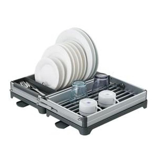 特力屋  威利可折疊雙層鋁合金碗盤架 1