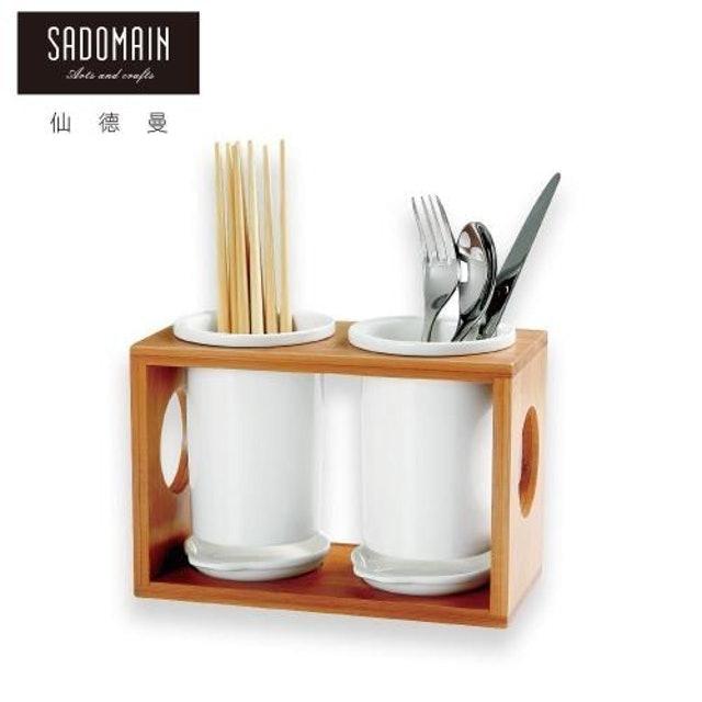 SADOMAIN仙德曼  白瓷筷籠餐櫥收納四件組 1