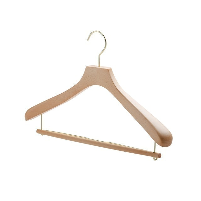 SHIMOYAMA 日本霜山 天然木製兩用褲掛衣架 1