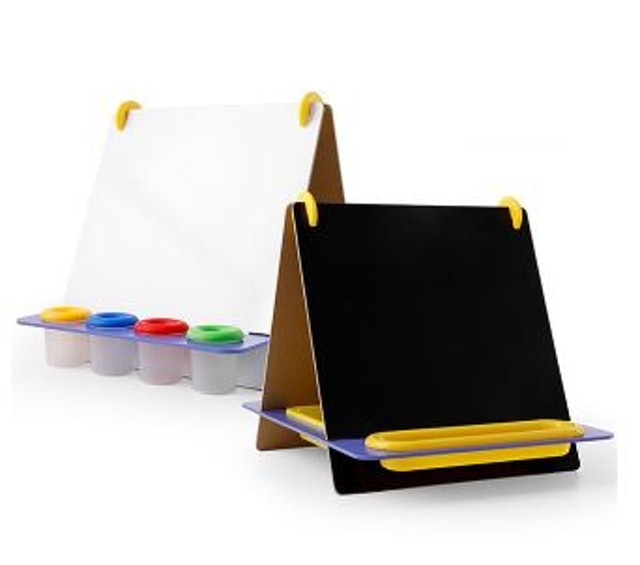 經典木玩  桌上式兒童雙面黑白畫板 1