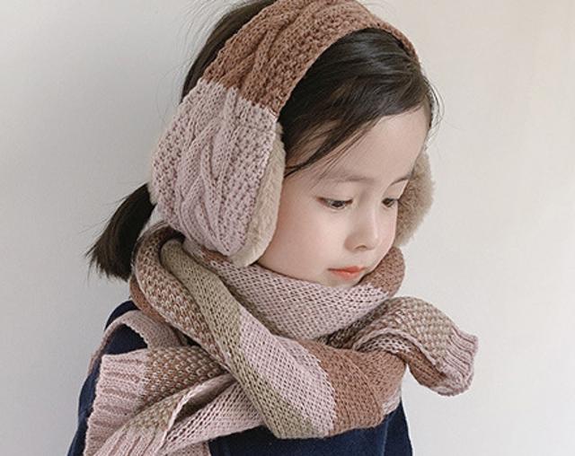 iSFun 兩用保暖刷毛耳罩圍巾 1