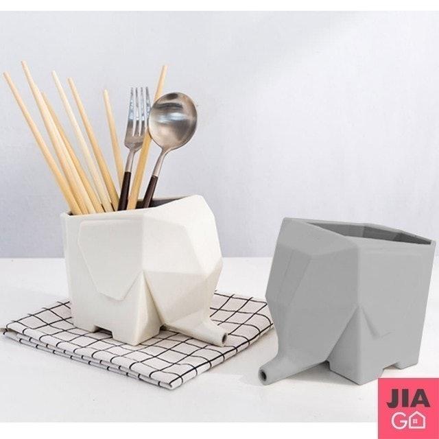 JIAGO 大象瀝水餐具收納盒 1