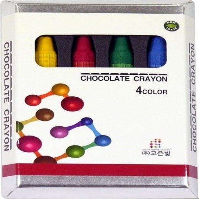 巧克力兒童無毒蠟筆 1