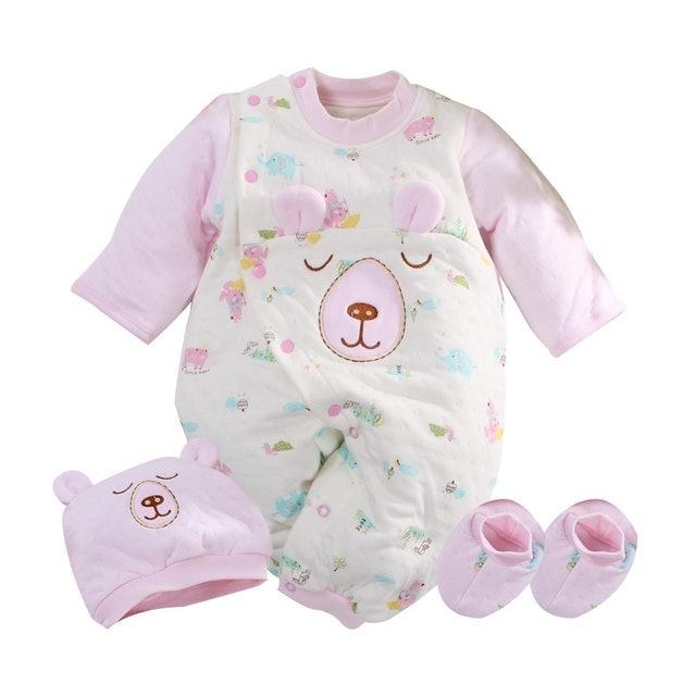 魔法Baby 台灣製三層棉極暖帽衣腳三件套兔衣組 1