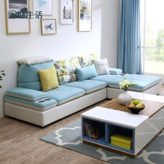 hoi!好好生活 防汙多功能雙色可拆洗布沙發 1