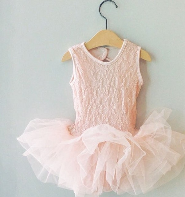 girlmonster  無袖銀箔蕾絲兒童芭蕾舞衣 1