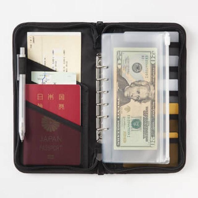 無印良品  聚酯纖維護照夾 附透明內袋 1