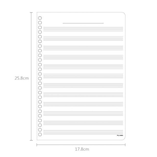 珠友  五線譜活頁紙 1