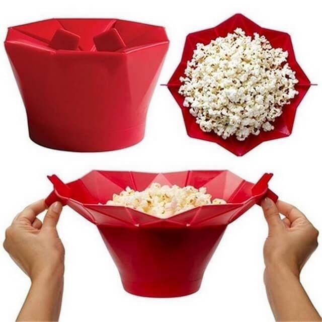 折疊式矽膠爆米花桶 1